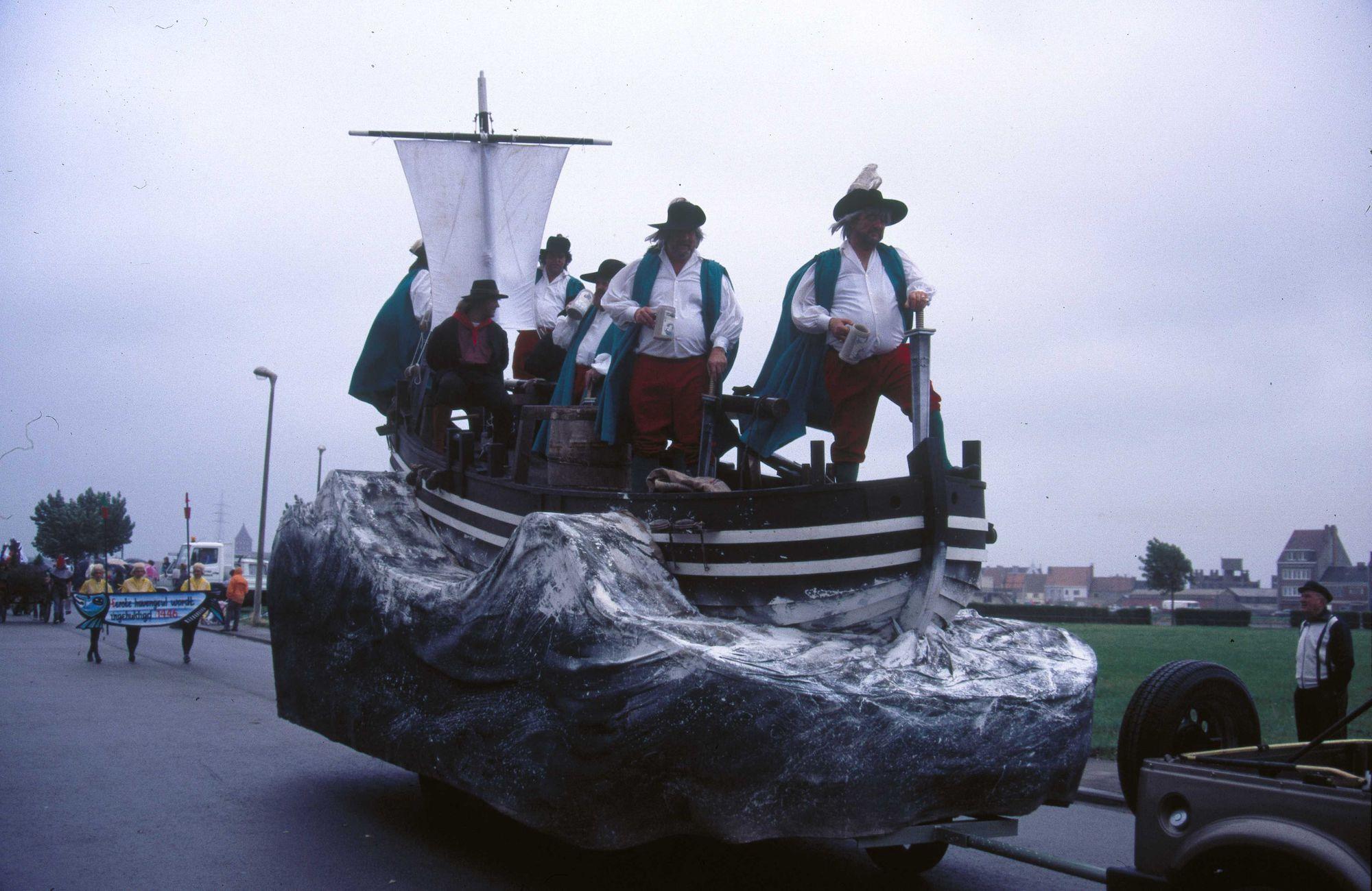 negende vissersstoet - foto uit het stadsarchief van Oostende