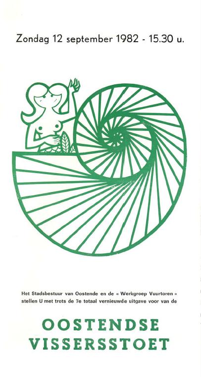 voorpagina van de folder van de 7e vissersstoet