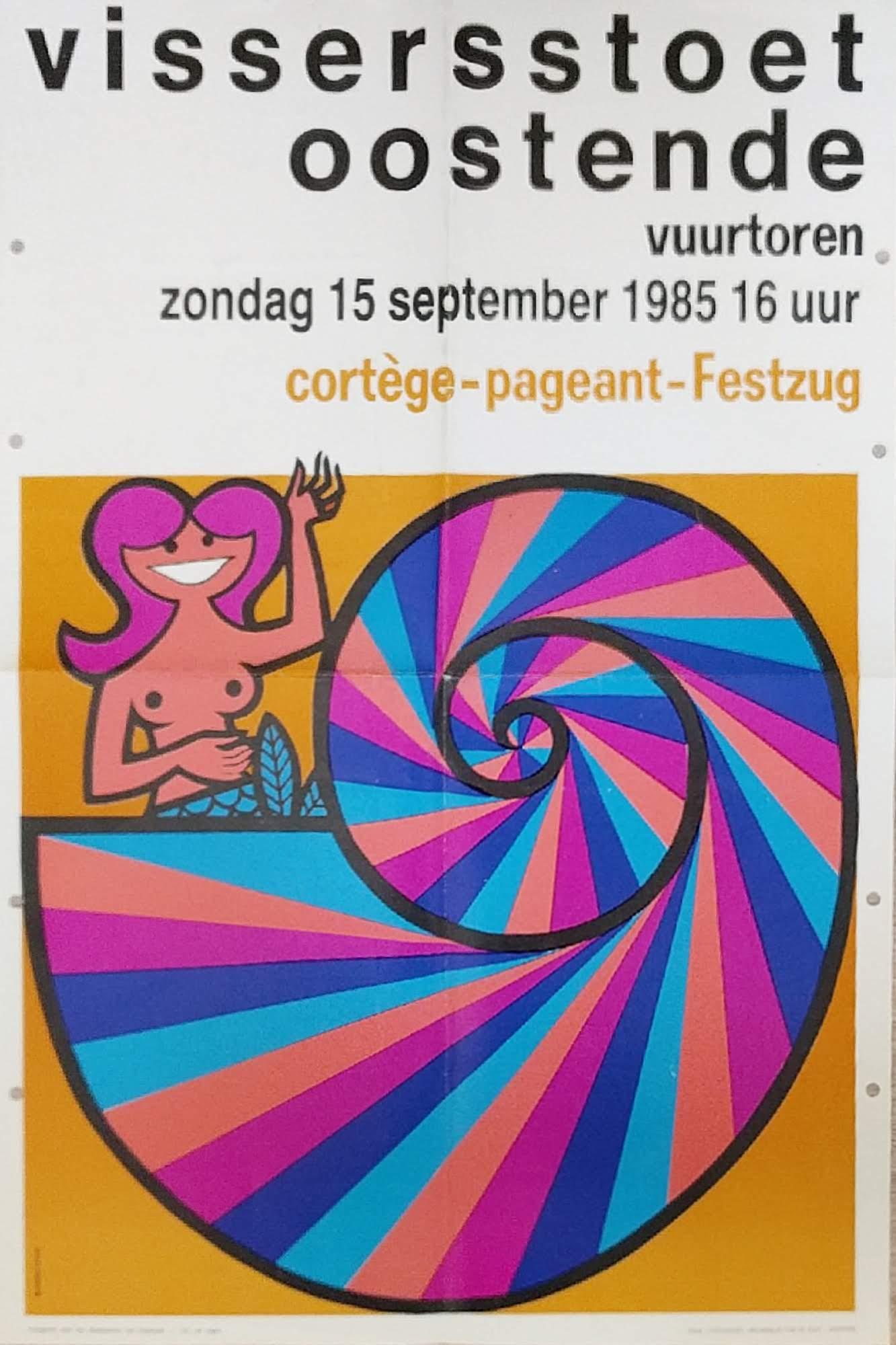 affiche vissersstoet 1985