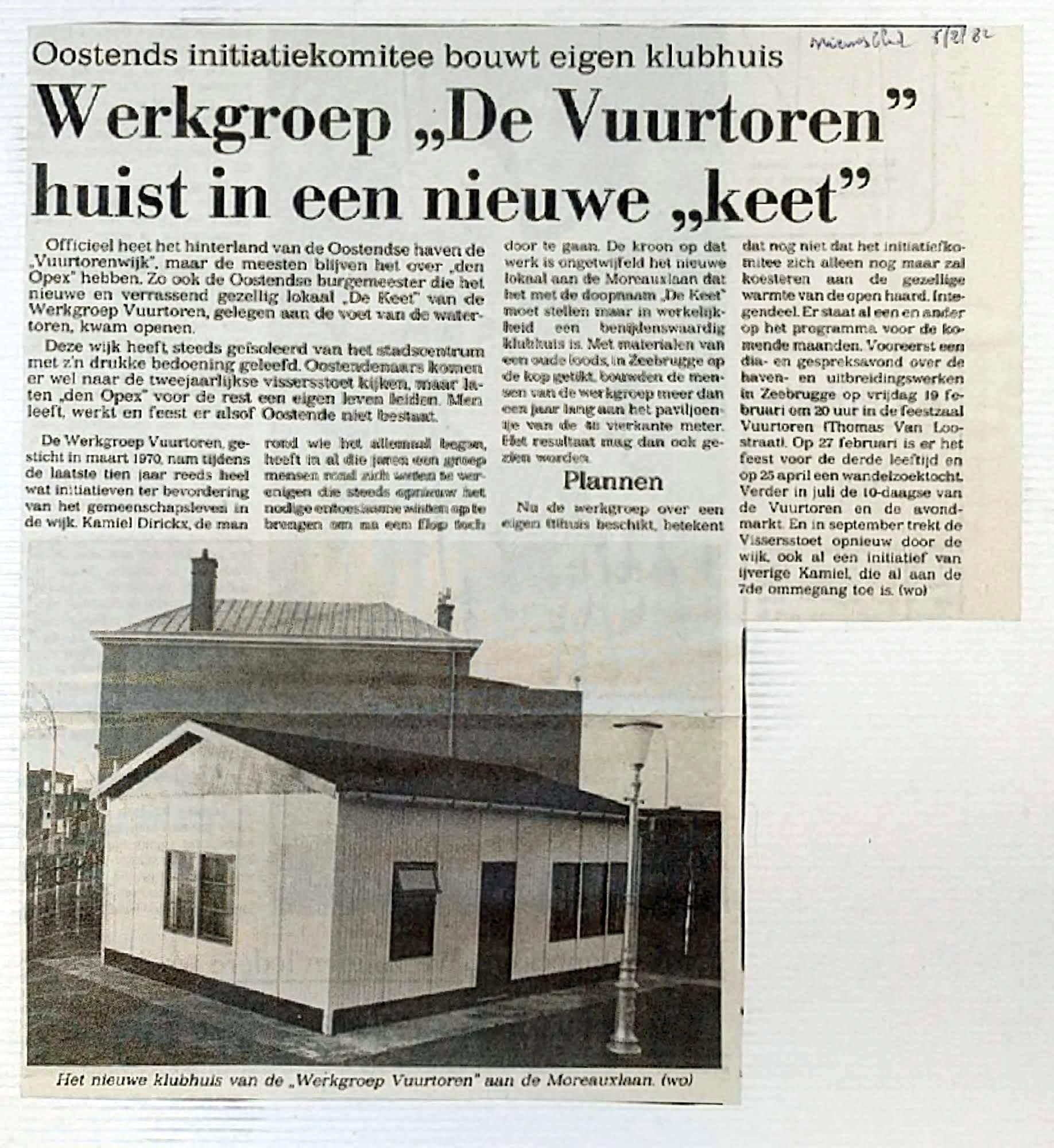 Persartikel Nieuwsblad van 05 februari 1982