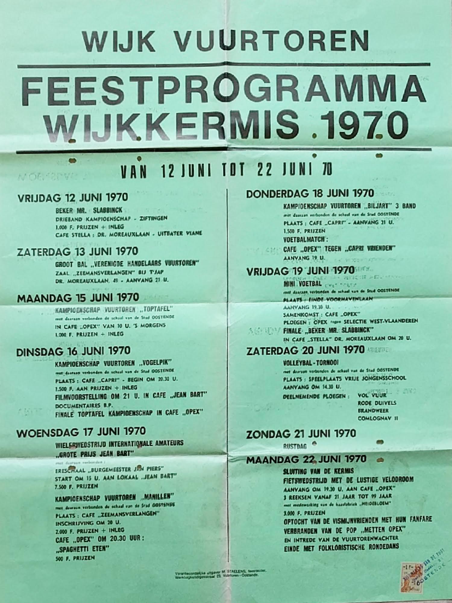 Affiche wijkkermis 1970