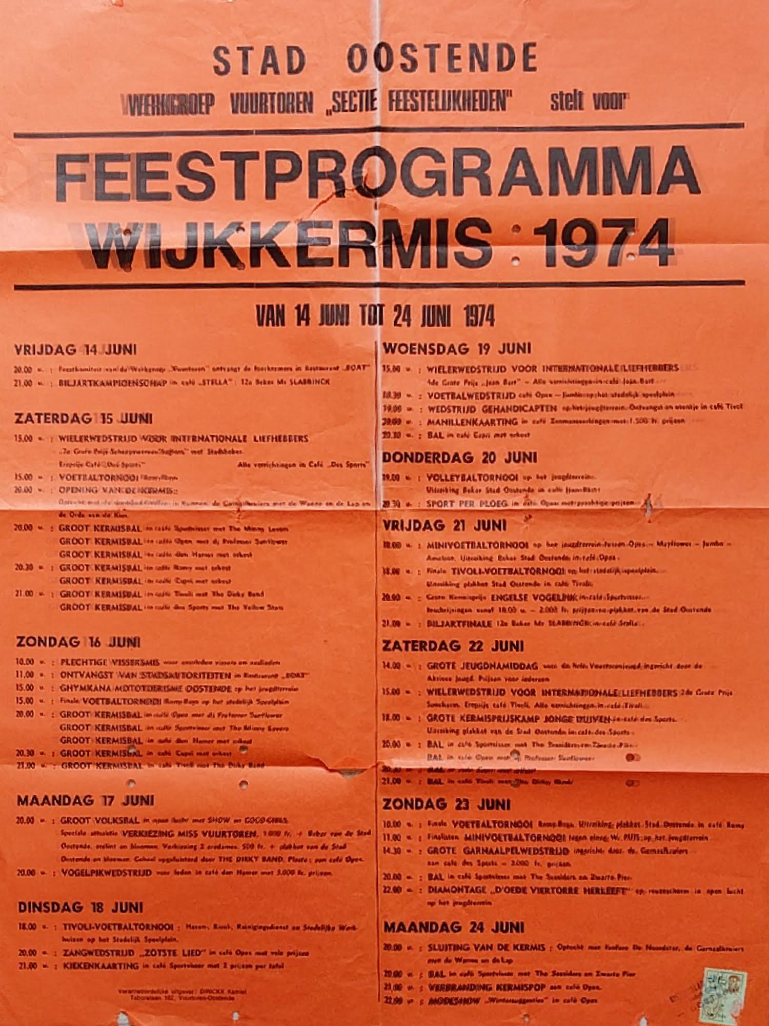 Affiche wijkkermis 1974