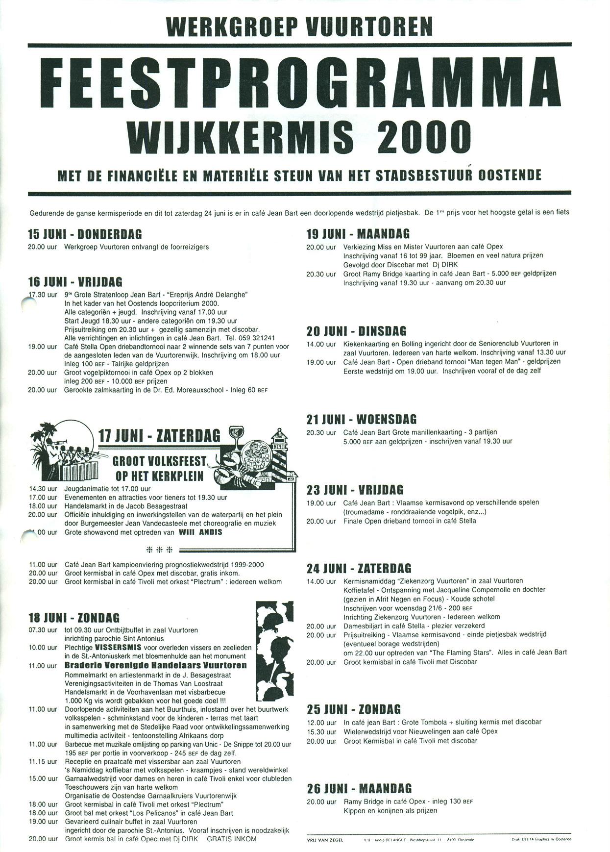 Affiche wijkkermis 2000